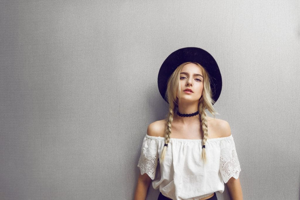 hairstyles for long blonde hair double braids