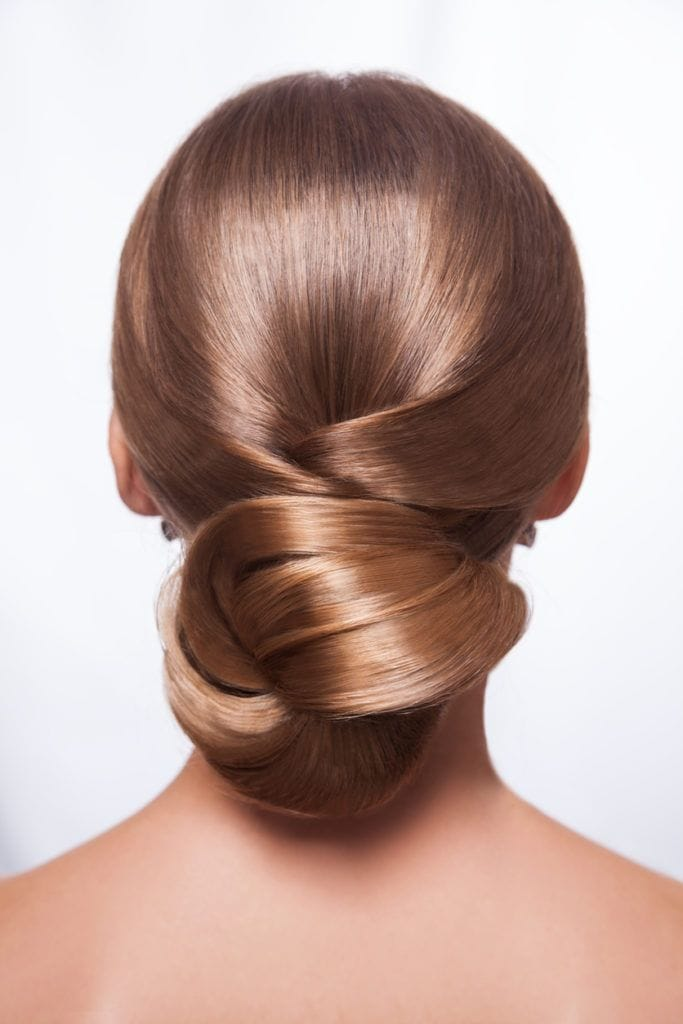 prom updos for long hair low knot bun