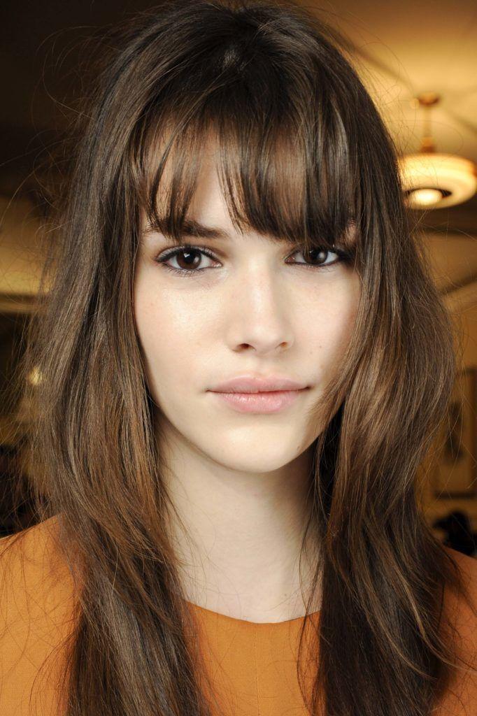 long shag haircut: brown hair