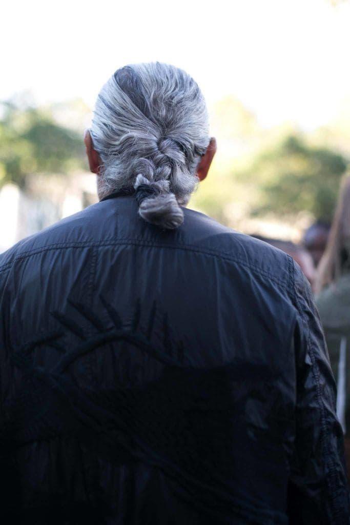 mens grey hairstyles braid