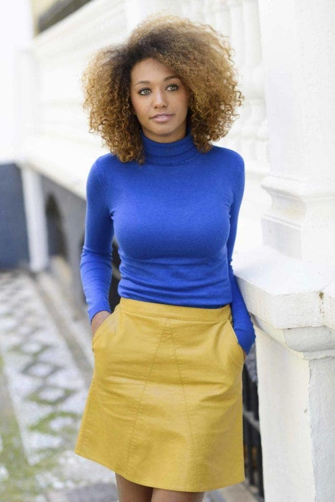 ombré natural hair: light brown