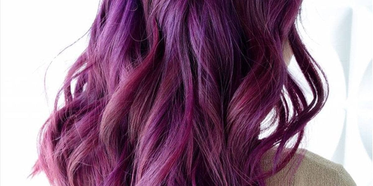 purple ombre hair berry purple ombre