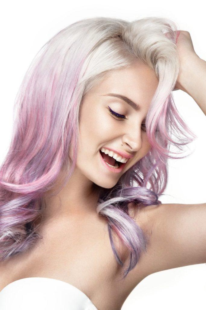 purple ombre hair platinum hair pale purple ombre