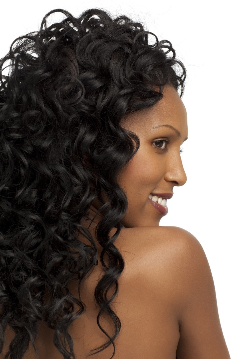 sew-in hairstyles: spiral curls