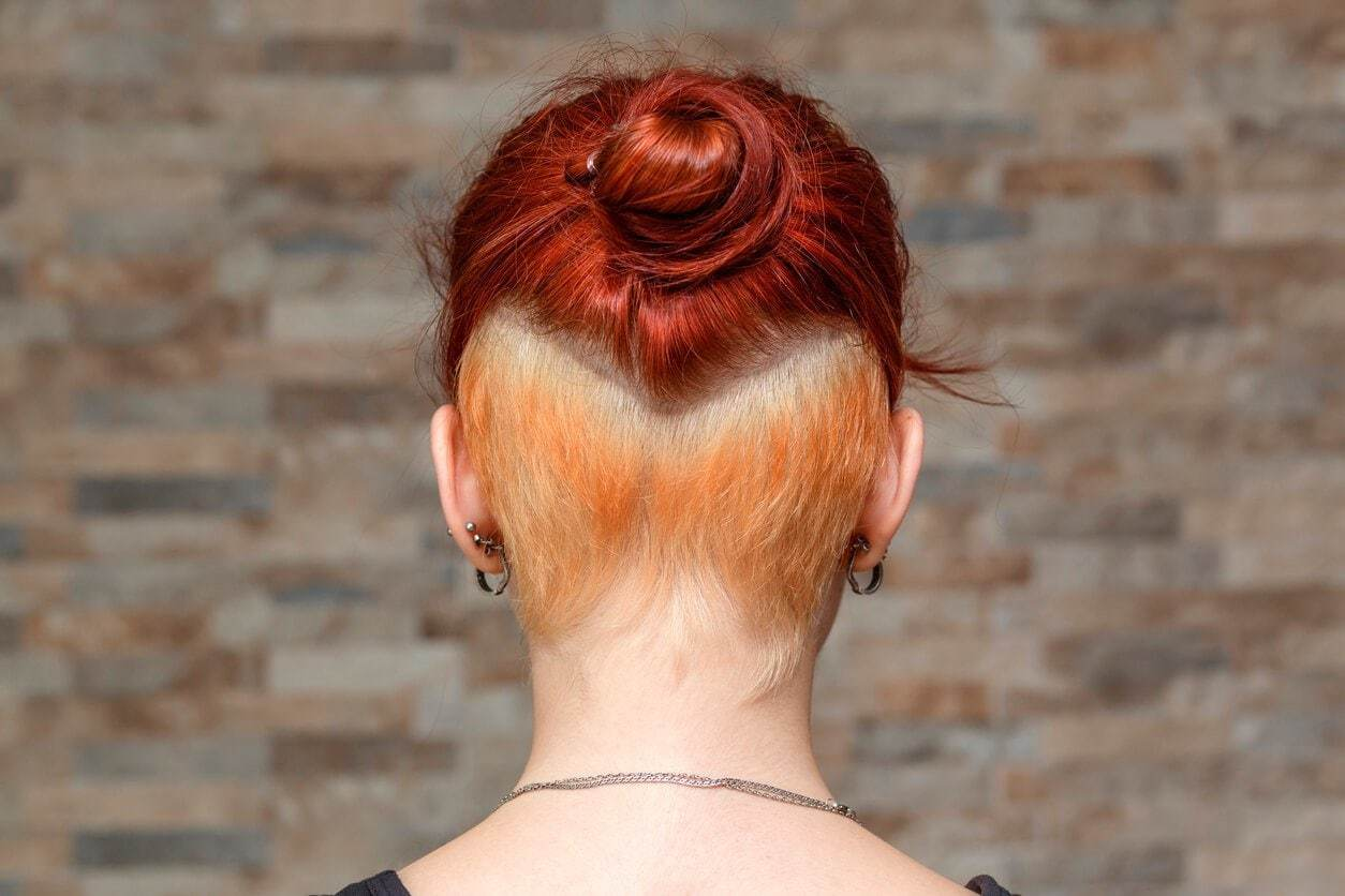 short red hairstyles bob and undercut