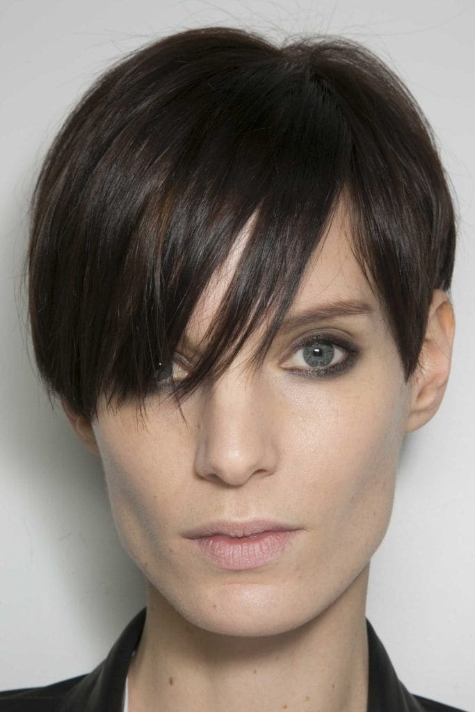 Short Straight Hairstyles pixie curtain bangs