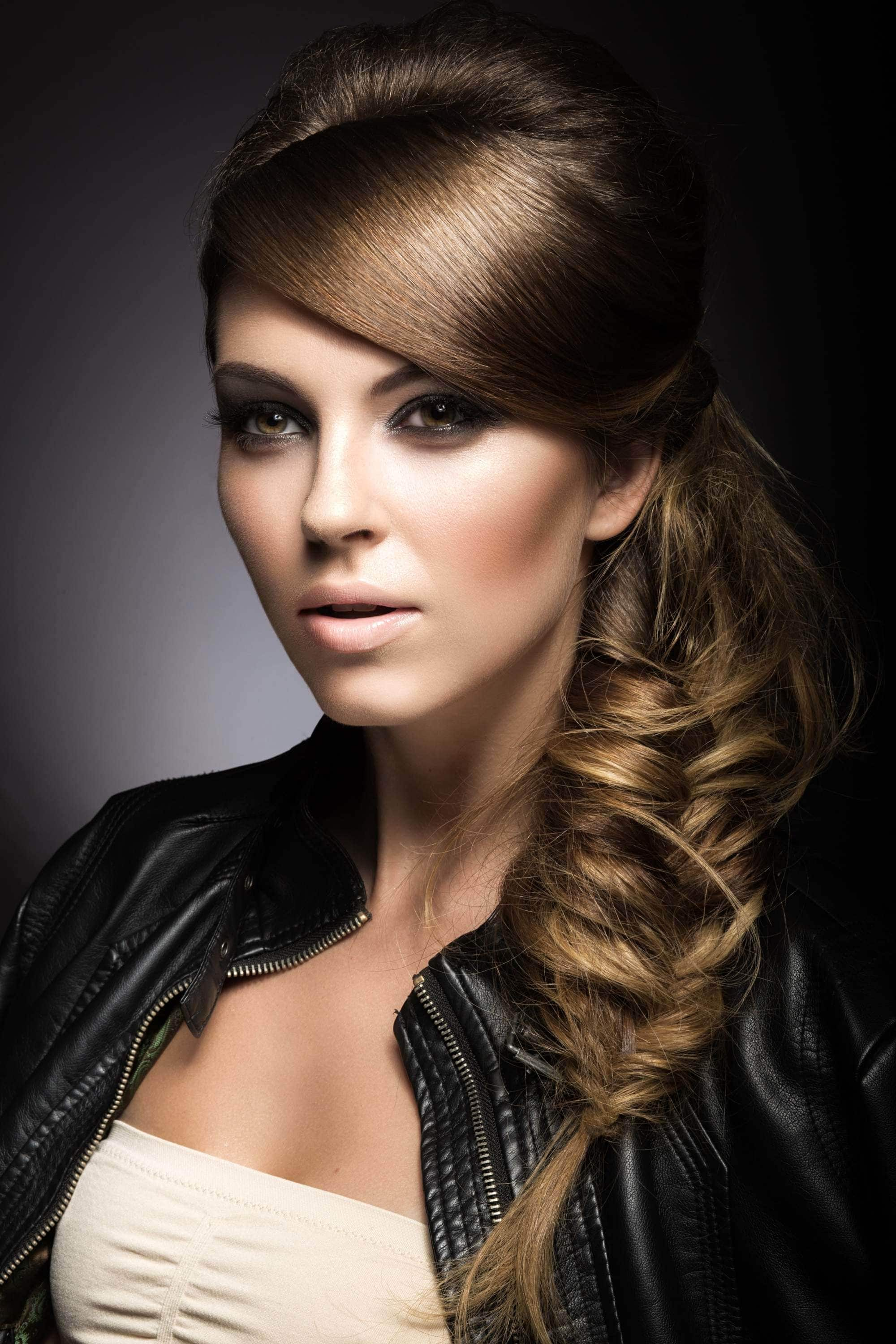 side swept hairstyles fishtail braid
