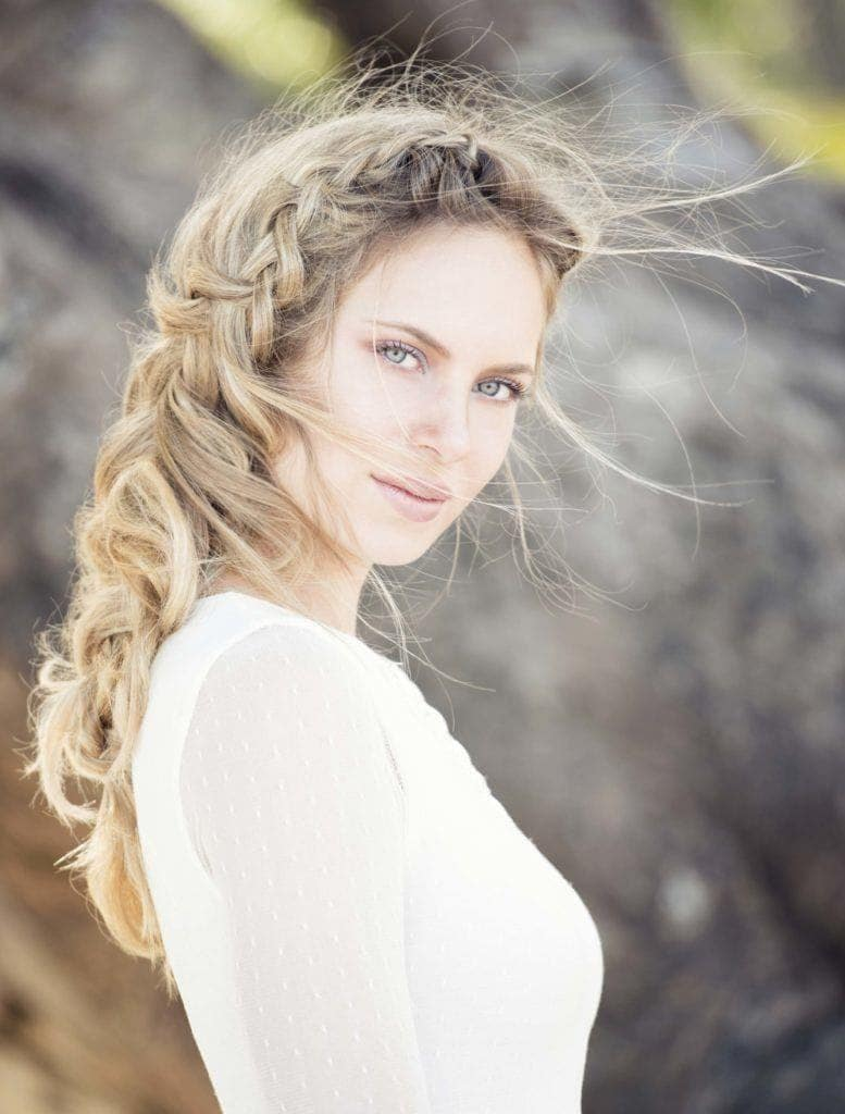 side swept hairstyles french braid