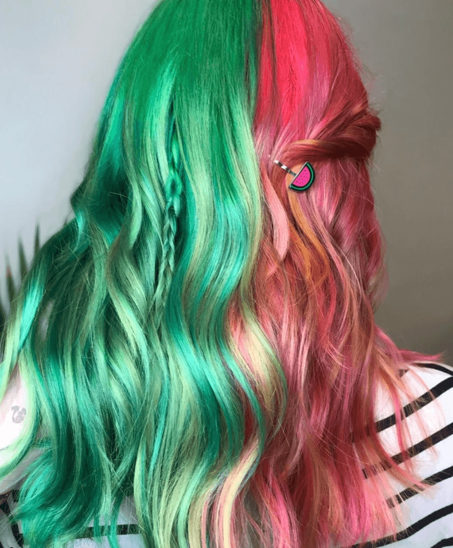watermelon hair long waves