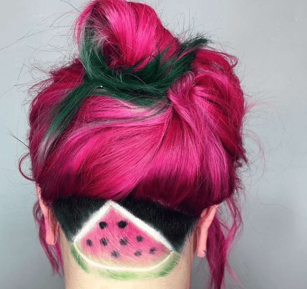 watermelon hair watermelon undercut