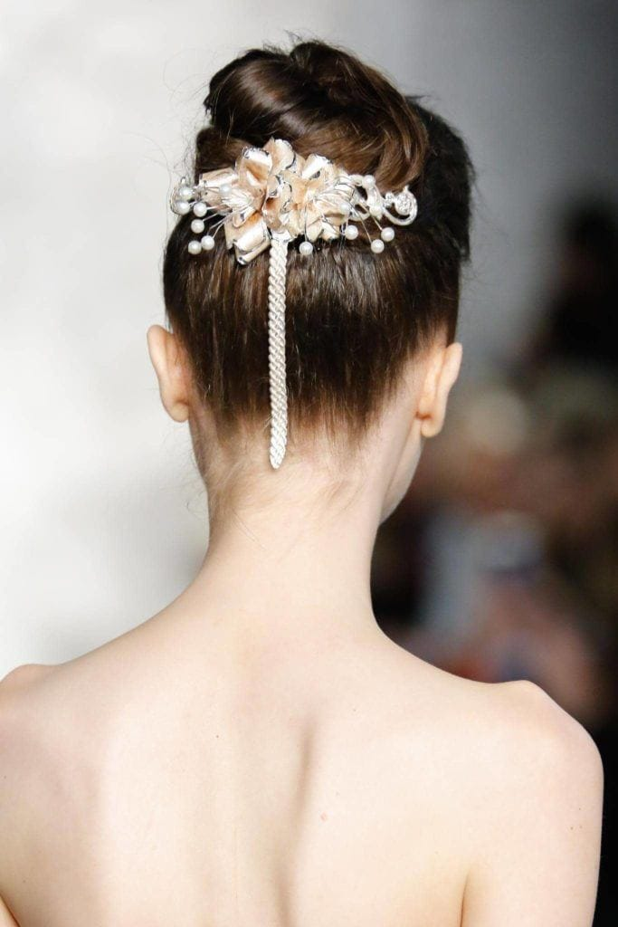 wedding hairstyles for long hair braided top knot