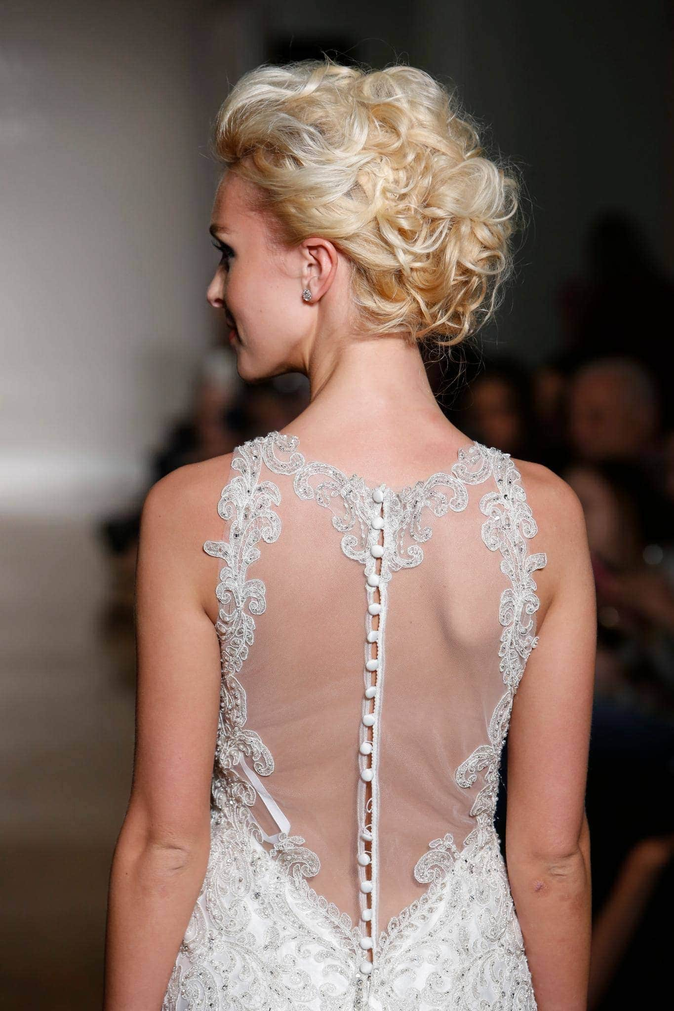 wedding hairstyles for long hair curly chignon