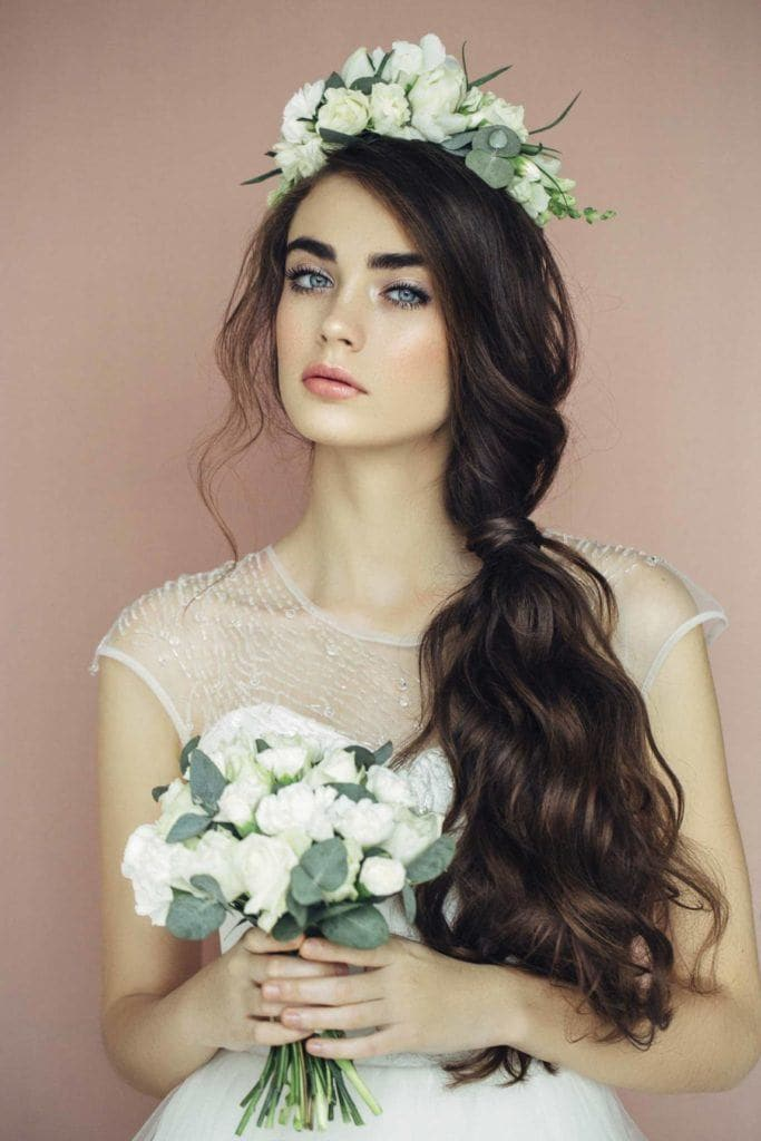 wedding-hairstyles-for-long-hair-wavy-ponytail