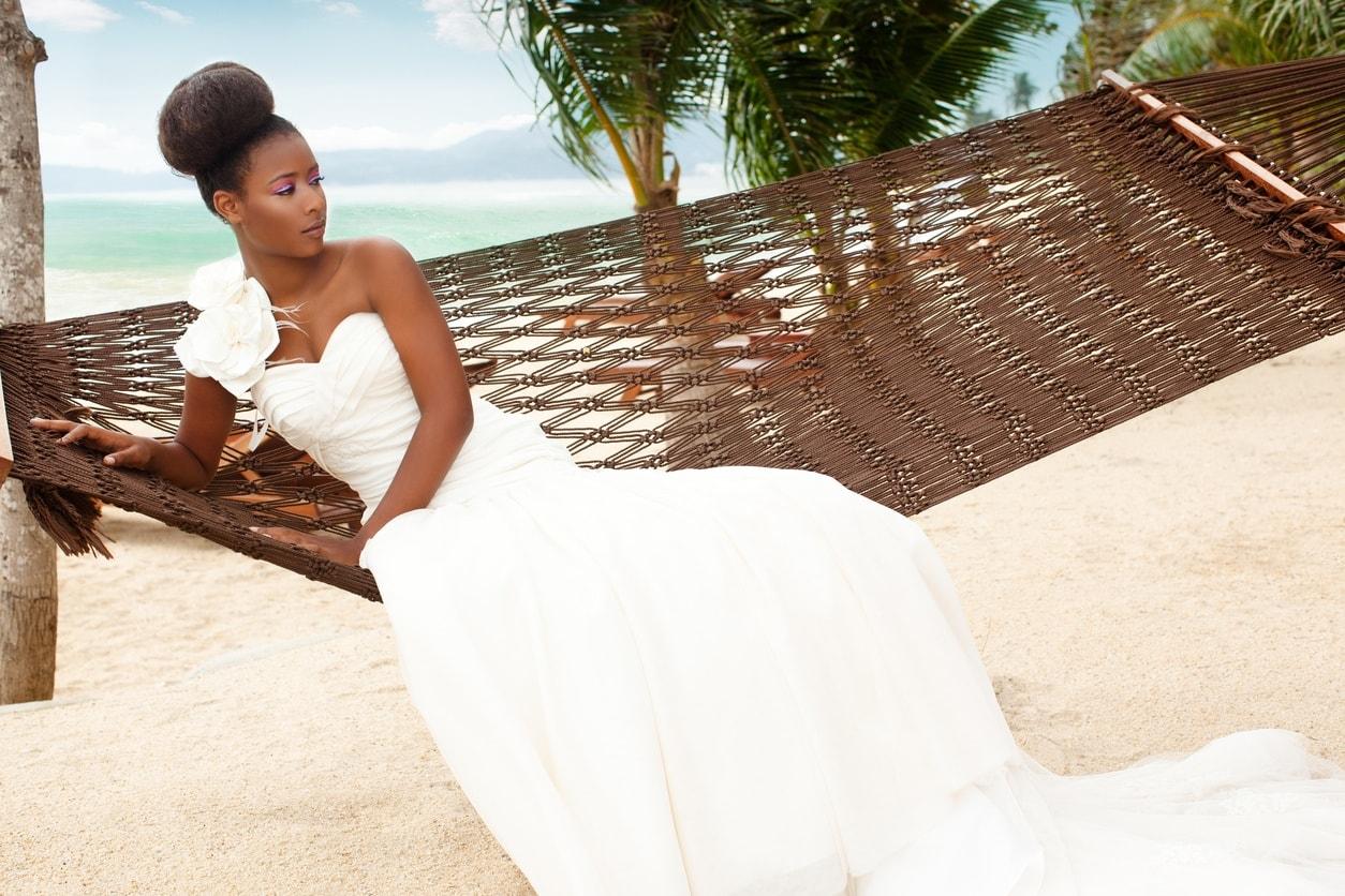black wedding hairstyles beehive