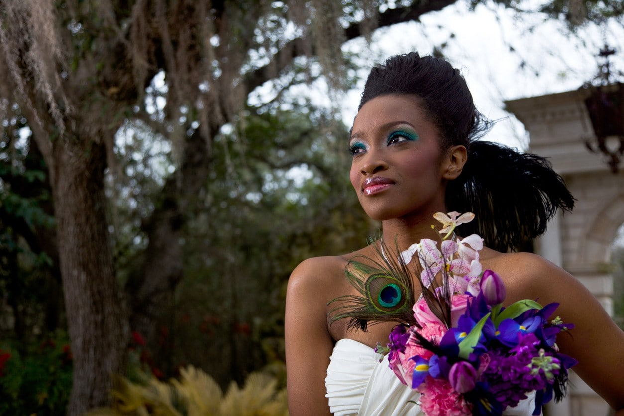 black wedding hairstyles matte updo