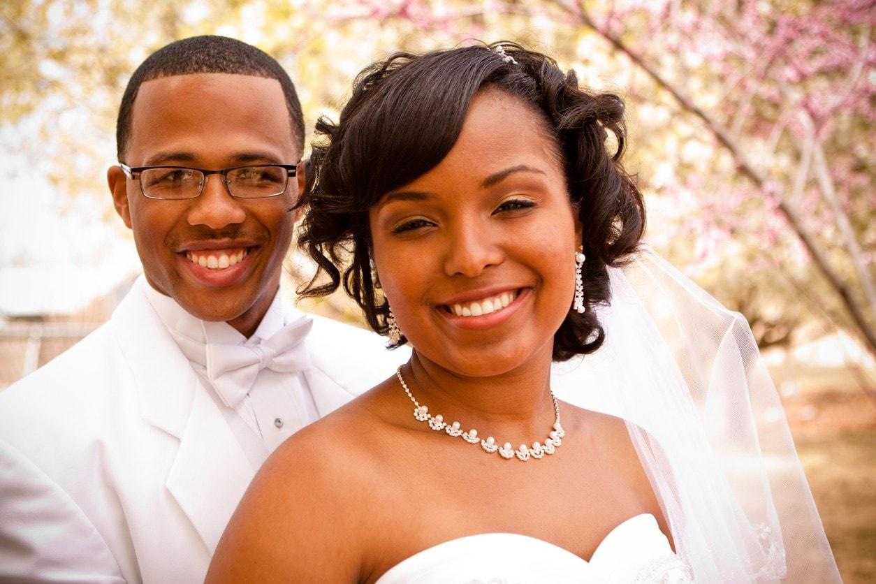 black wedding hairstyles bangs