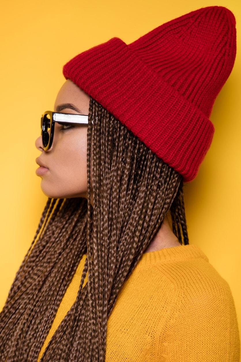 box braids beanie