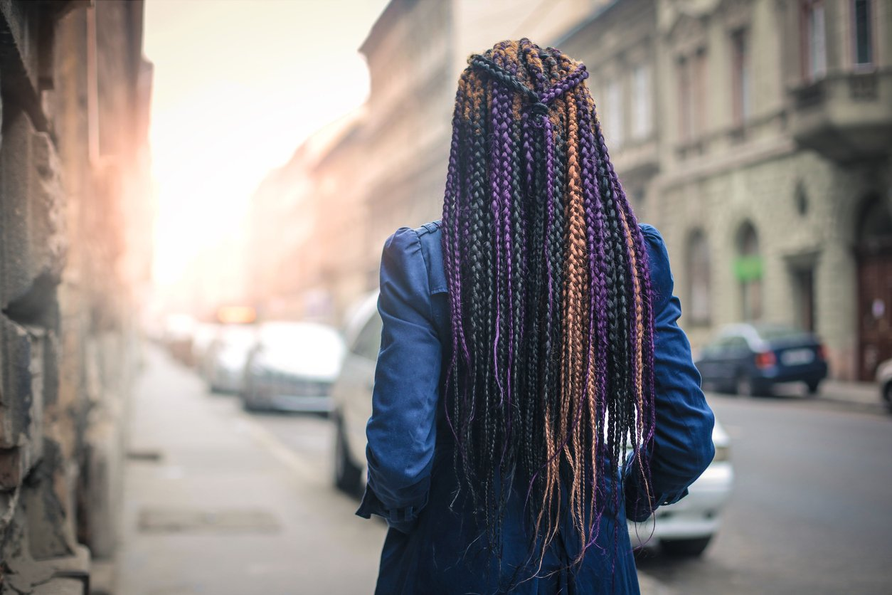 box braids multi-toned braids