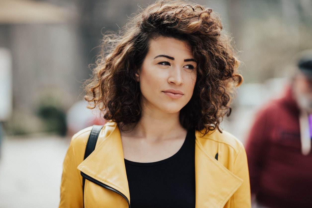 curly hair hairstyles lob