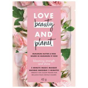 love beauty and planet blooming color murumuru butter & rose masque