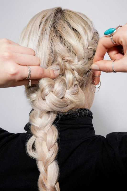 French braided bun step 4