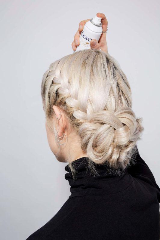 French braided bun step 5