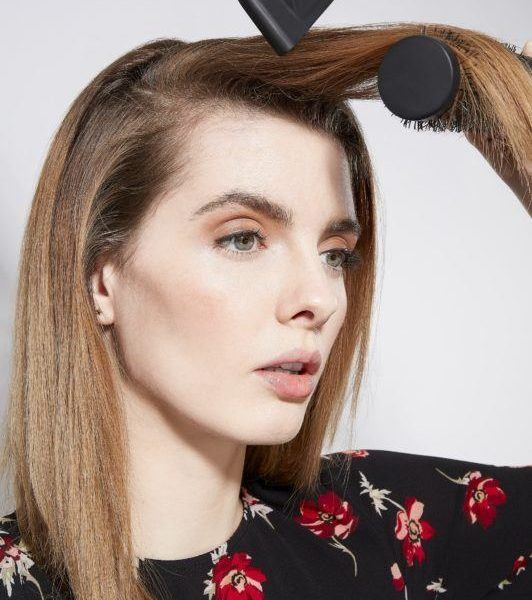 how to blow dry hair straight add volume