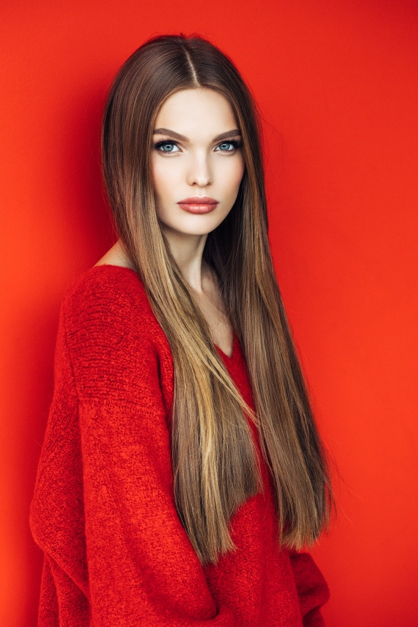 cheveux traités à la kératine
