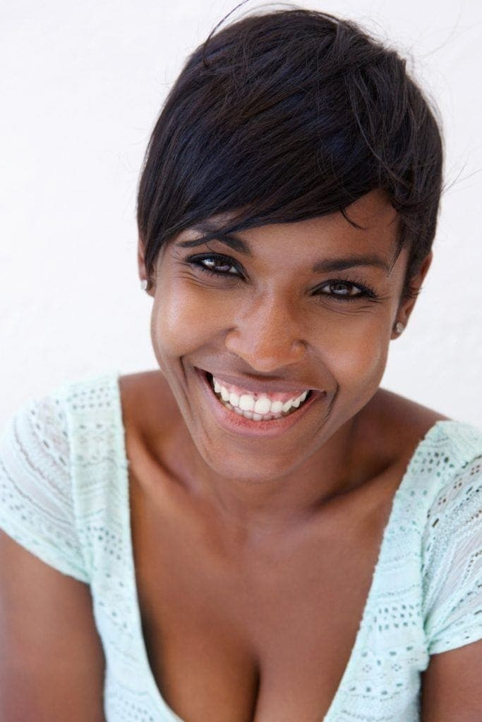 relaxed hairstyles: pixie cut