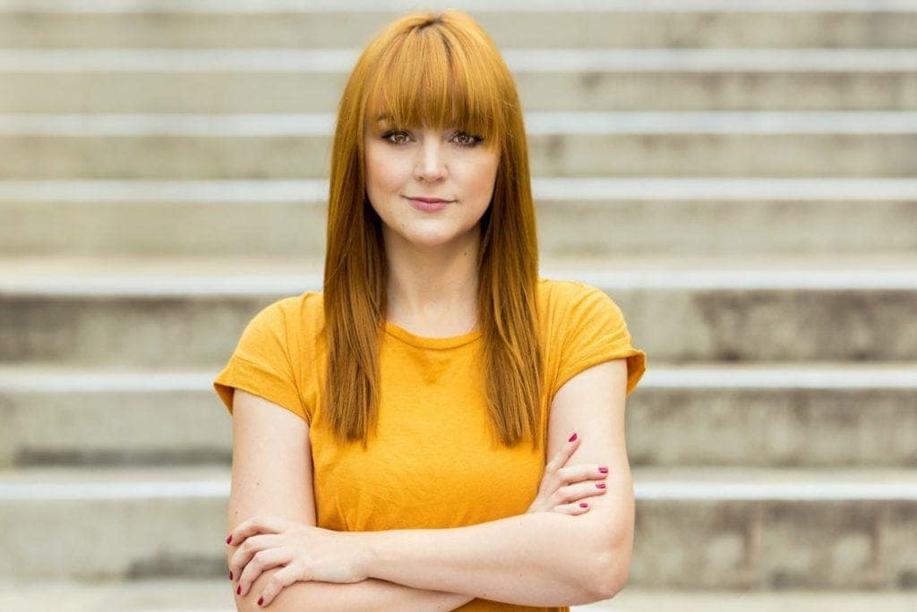 blooming color: orange hair