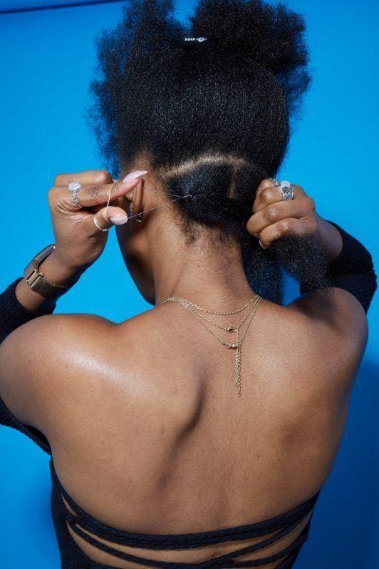 how to do box braids: elastic band