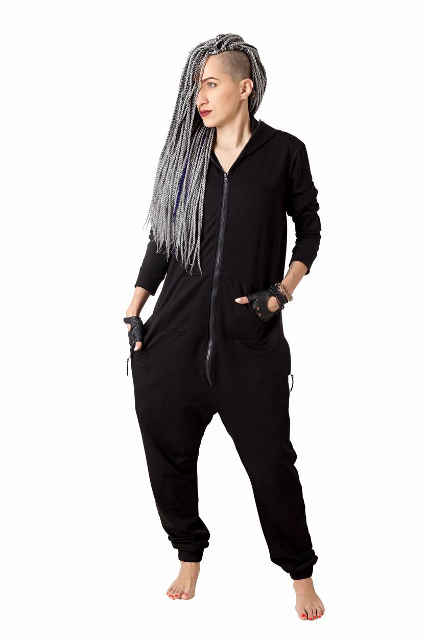 box braids with shaved sides: black and white braids