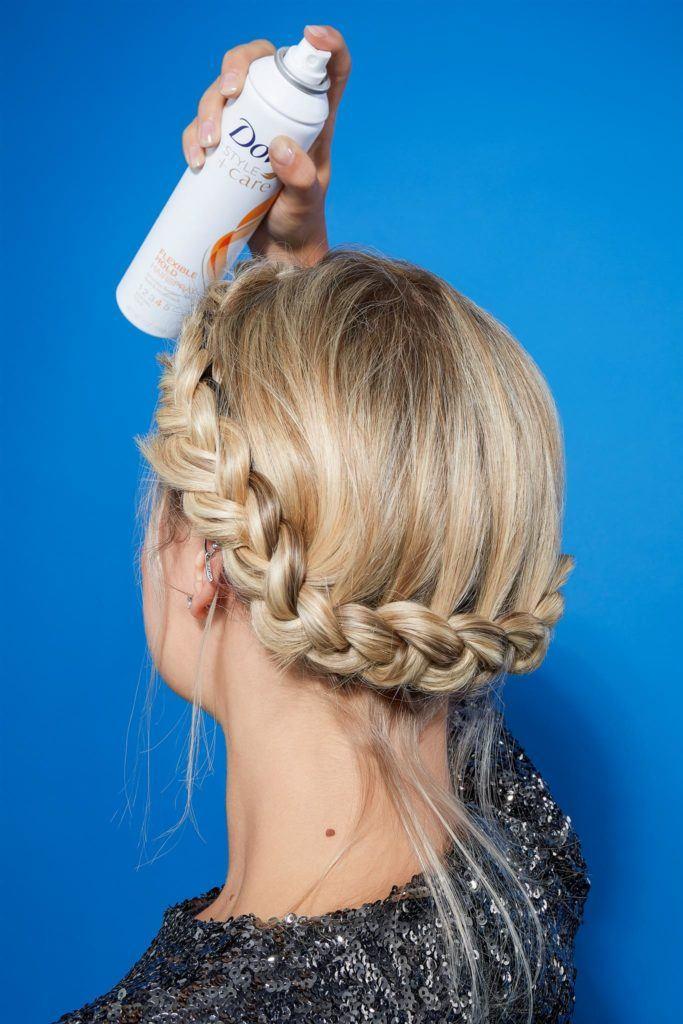 Crown braid for short hair dove hairspray