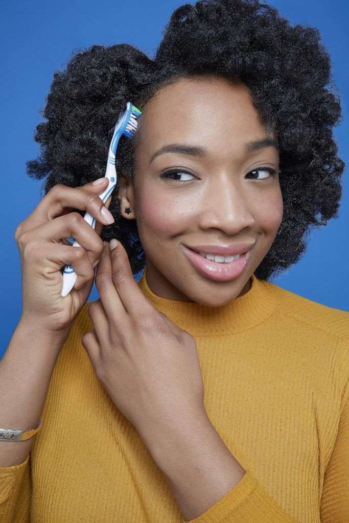 how to use flexi rods on natural hair: brush baby hair