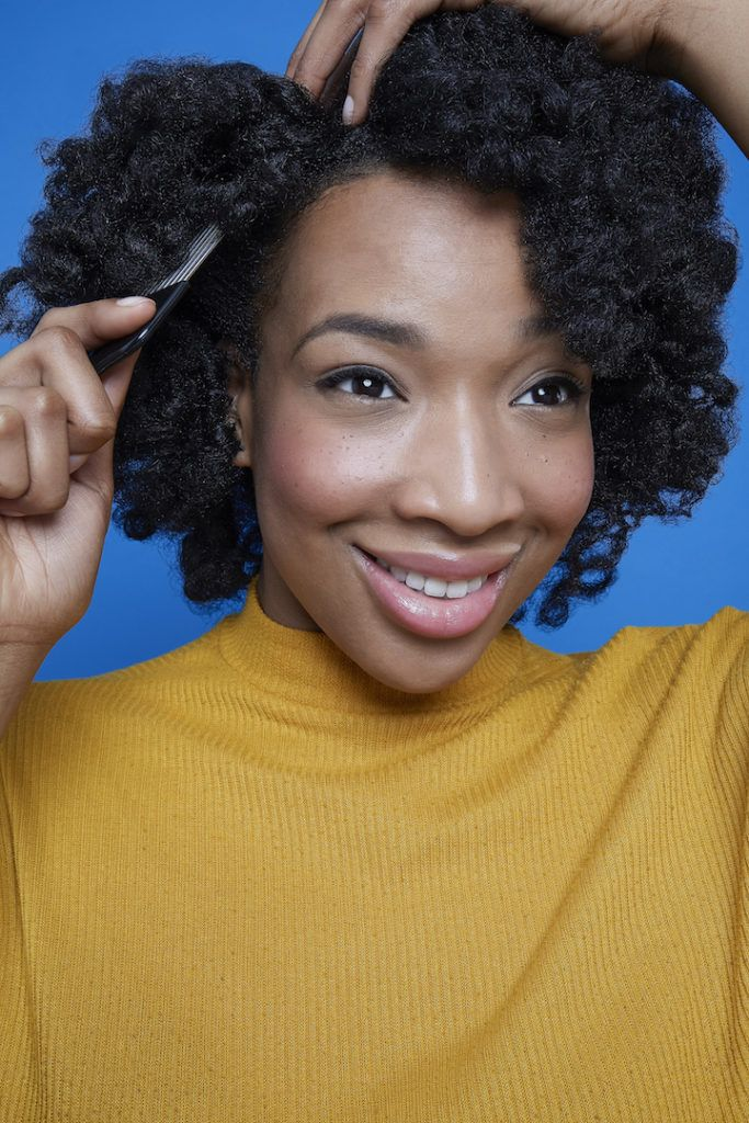 how to use flexi rods on natural hair: fluff hair