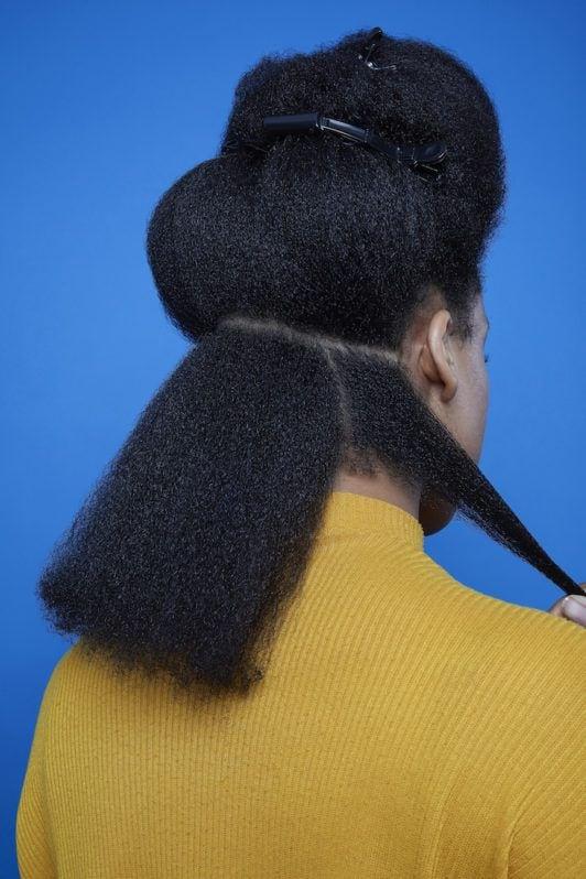 flexi rods on natural hair: part hair