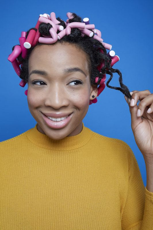 how to use flexi rods on natural hair: remove rods