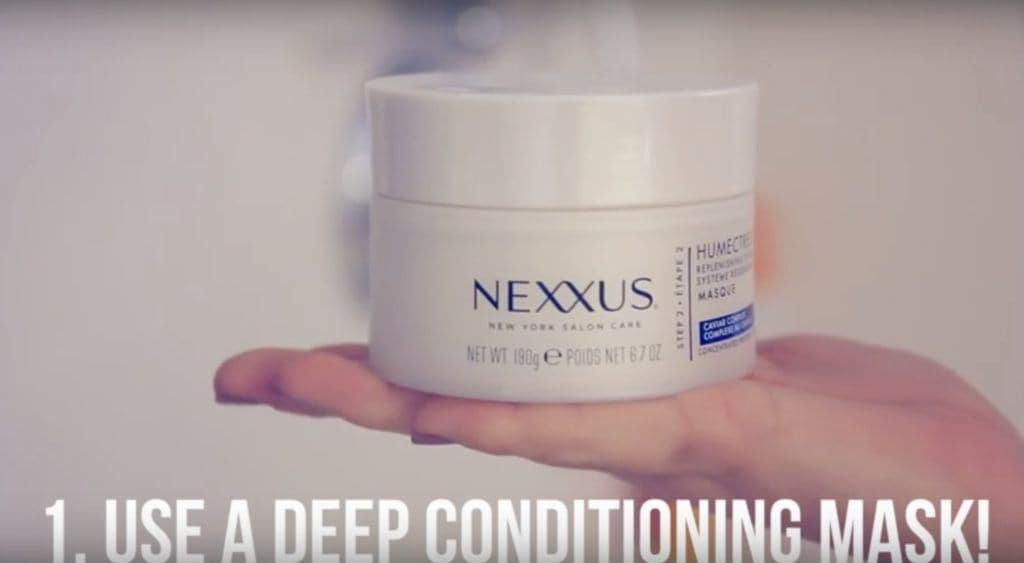 how to get rid of frizzy hair deep conditioner