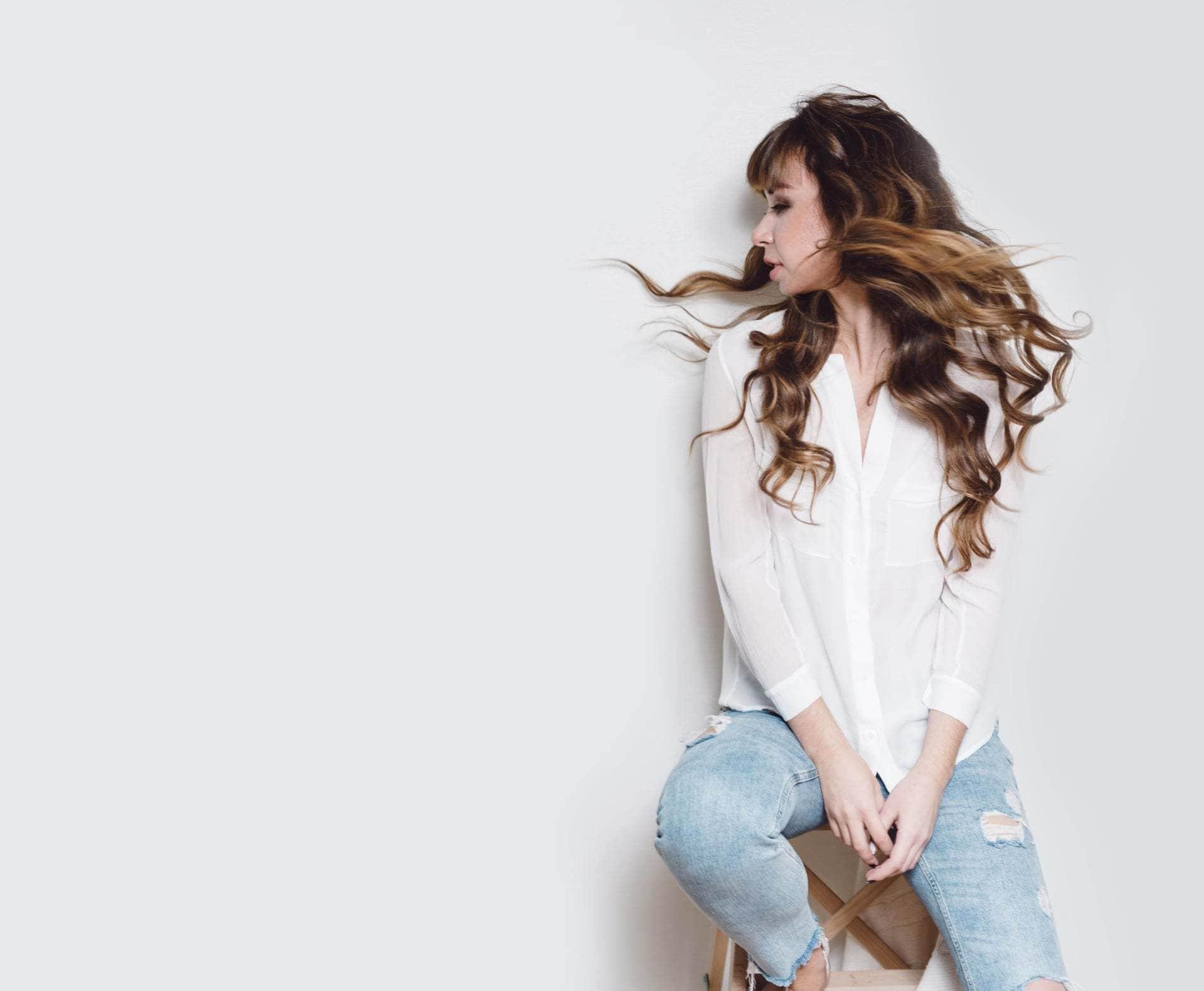 humidity-proof hair wavy hair balayage
