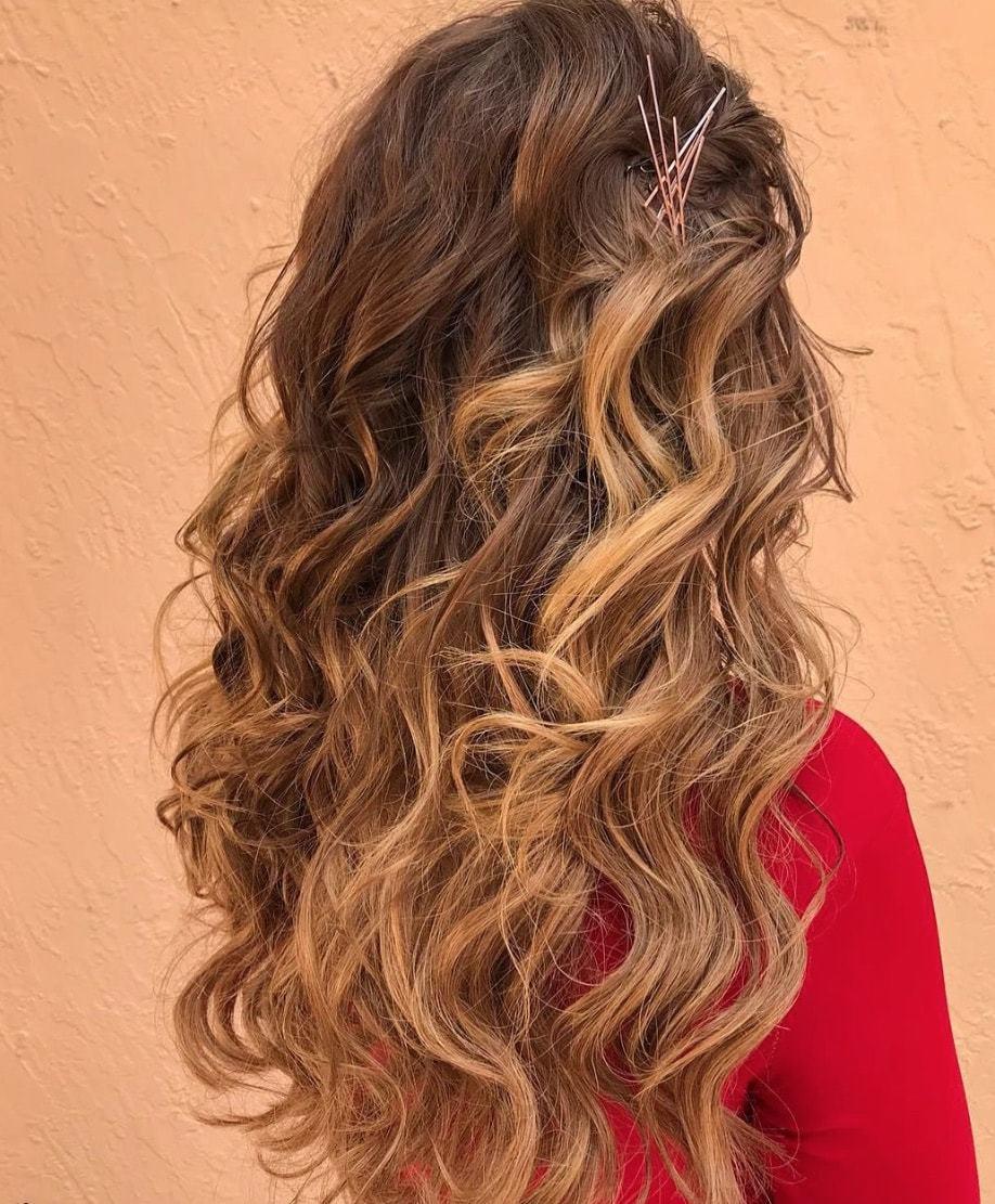 fall wedding hairstyles pinned curls