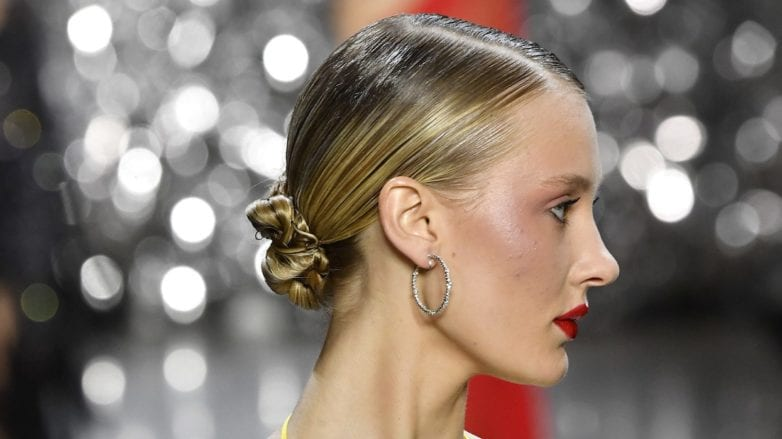 This Sleek Bun From Fashion Week Required An Entire Tube Of Gel