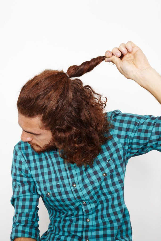 man doing a ponytail