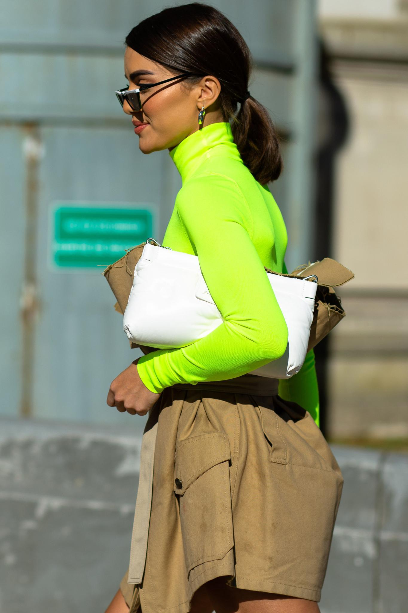 lime green trend and hairstyles: ponytail