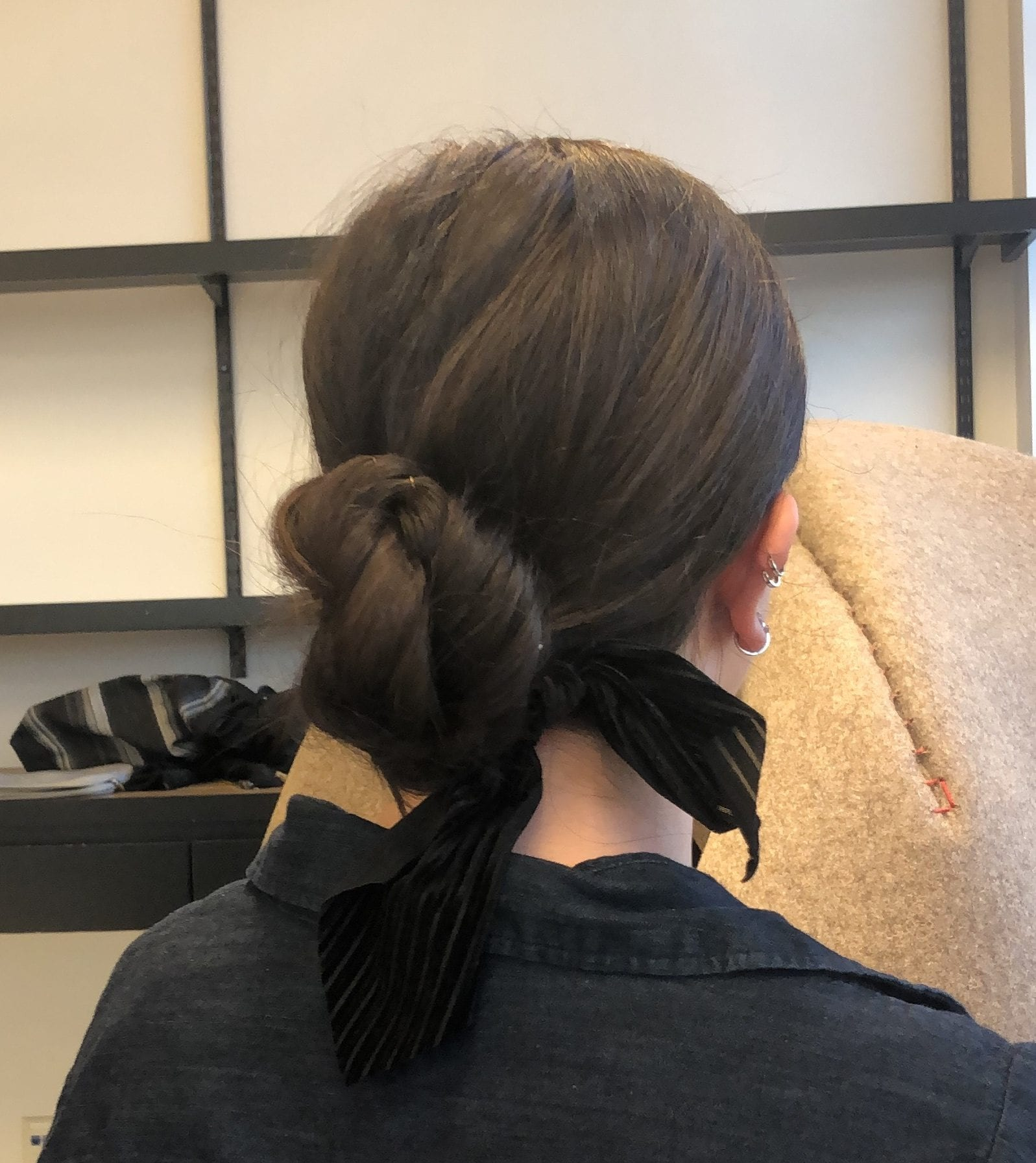 day to night looks low bun bow