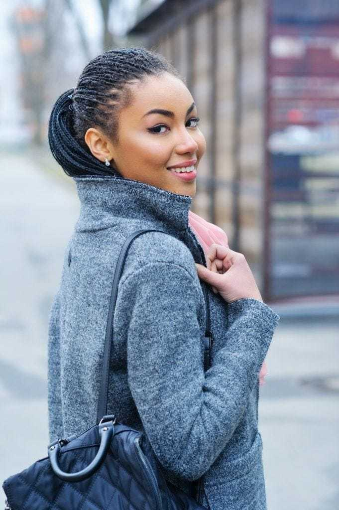 maintain protective style: ponytail