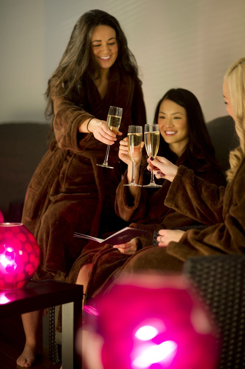 national champagne day: girls night in