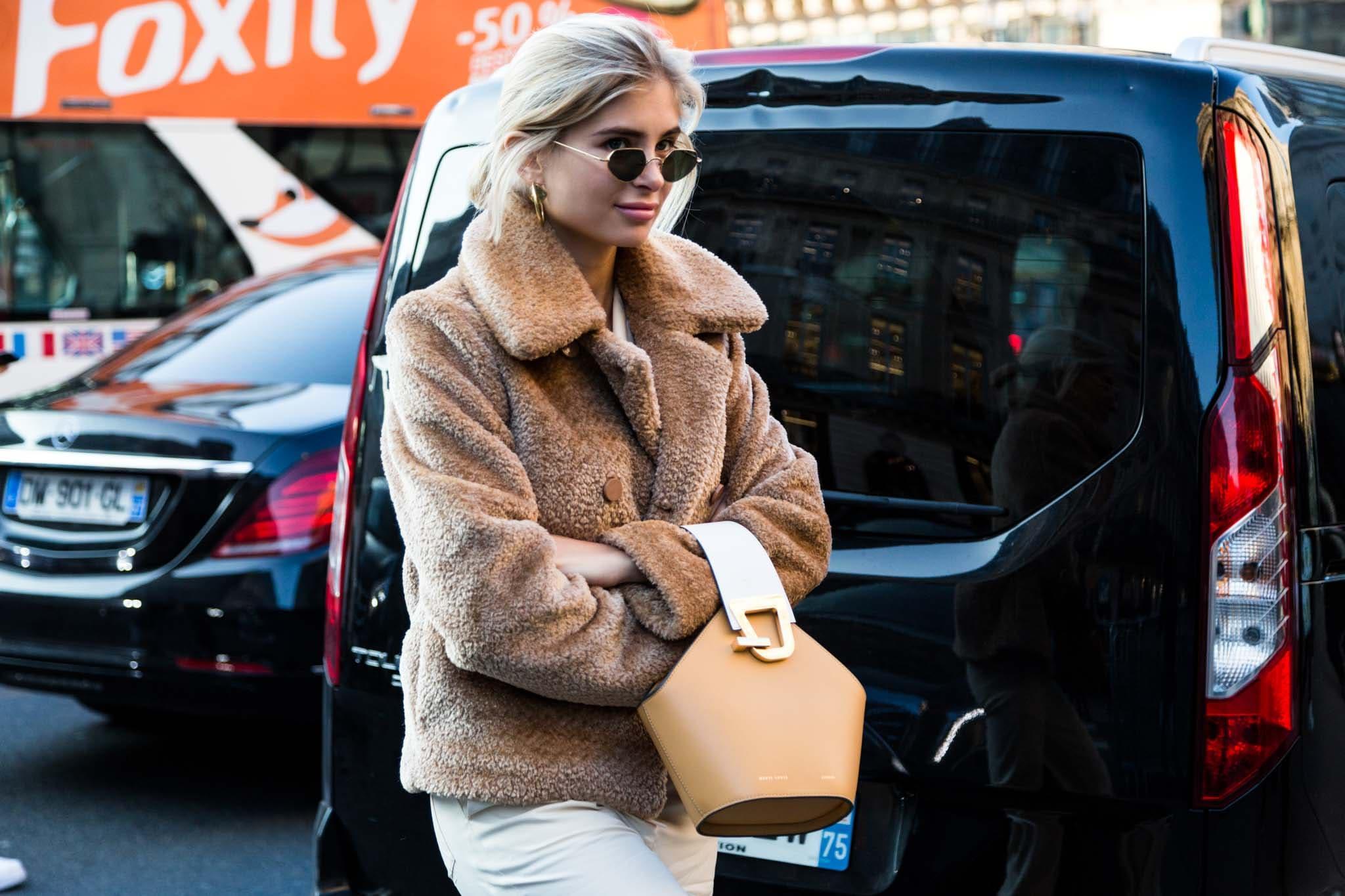 teddy jacket: loose ponytail