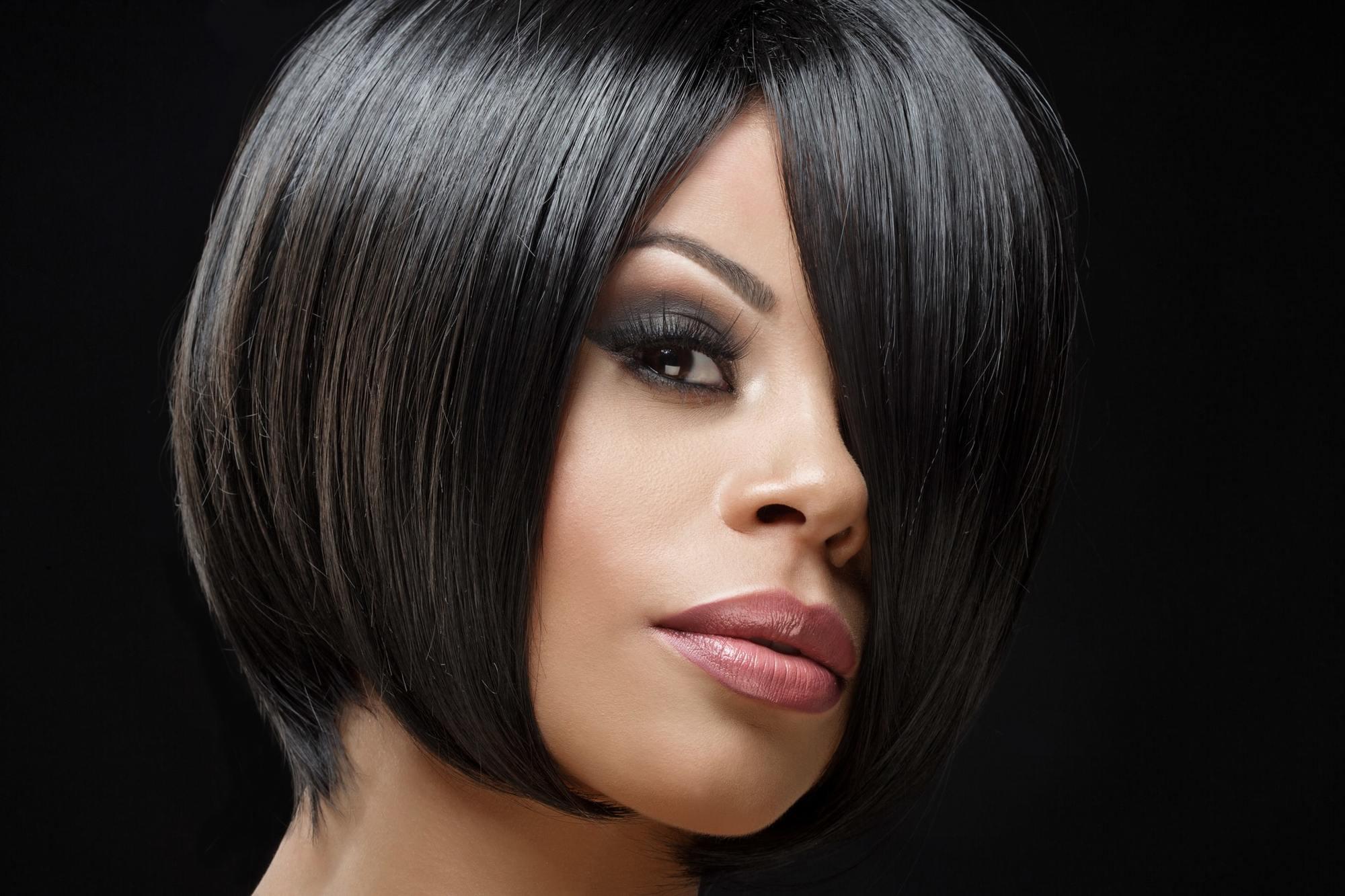 Black ladies blunt cut for hairstyles 15 Short