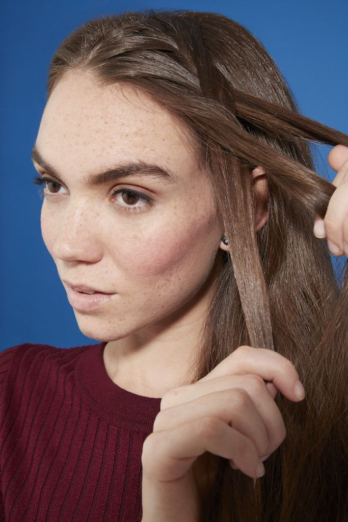 how to do a side french braid: weaving braid