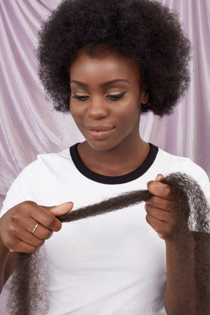 Marley braids comb through hair